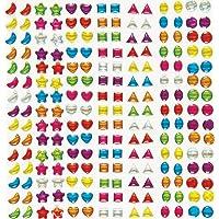 Baker Ross Piedras Adhesivas de Cristal para Niños Gemas Coloridas para Decorar Tarjetas, Álbumes y Otras Manualidades Infantiles (Pack de 280)