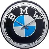 Nostalgic-Art, Reloj Retro de Pared, BMW Logo – Regalo para los Fans de los Coches, Gran decoración para la Cocina, Diseño Vi