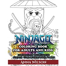 Ninjago Masters of Spinjitzu Coloring Book for Adults & Kids: Coloring All Your Favorite Ninjago Characters in Ninja World