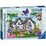 Ravensburger 19496 Country Collection Delphinium Cottage Puzzle (1000-piece)
