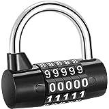 ORIA Combinations cijferslot, 5-cijferig combinatieslot, hangslot, waterdicht, roestbescherming, veiligheidsslot voor school,