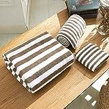 enjo ybridal® Juego de toallas de mano (algodón Lavado Guantes toalla de ducha Toallas de Invitados 100% algodón, café, 34*35cm(Handtuch)