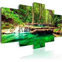 murando - Cuadro en Lienzo 200x100 cm - Wasserfall - Impresion en calidad fotografica - Cuadro en lienzo tejido-no tejido - Naturaleza Paisaje c-B-0036-b-n