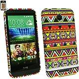 Emartbuy® HTC Desire 510 Sim LCD Displayschutz And Gel Hülle Schutzhülle Case Cover Aztec