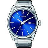 CITIZEN Mens Solar Powered Watch, Analog Display and Solid Stainless Steel Strap - BM7411-83L