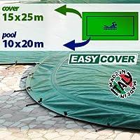 Telo di copertura invernale per piscina 10 X 20 mt - completo di borchie ed elastico