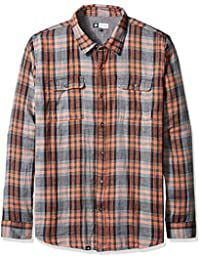 LRG Men's Big and Tall Two Face Long Sleeve Woven Shirt