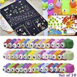 Asian Hobby Crafts Craft Paper Punch (10 Pieces) with Free Origami Paper Sheets (10 Pieces)