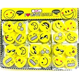 Emoji Smile Face Pencil Erasers,Cute Smiley Face Look Eraser Pack – B'Day Return Gift || Party Idea For Kids Birthday || Special Gift For Kids || Pack Of 36 (Each Pack Contain Of 4)