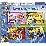 Ravensburger – Paw Patrol – 4 Puzzles de la Pat Patrouille – 12, 16, 20, 24 Pièces – 14x19 cm