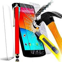 PACK A&D® FILM PROTECTION Ecran en VERRE Trempé pour SONY XPERIA T3 filtre protecteur d'écran INVISIBLE & INRAYABLE vitre INCASSABLE + STYLET ROUGE pour Smartphone Xpéria T 3 4G double dual sim D5103