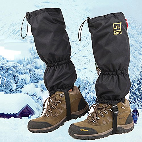 JTENG High Snow Leg Gaiters JTENG Double Sealed Velcro Zippered Closure TPU Strap Waterproof Leg gatiers Hiking Ski Climbing Hunting Walking Snowboard Snowshoeing Mountaineering Ice Equipment
