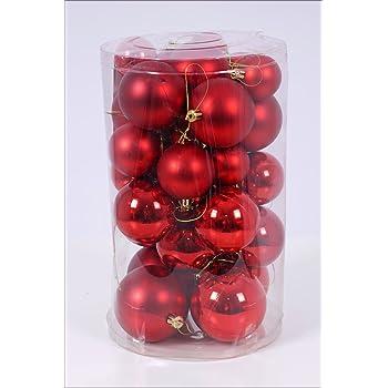 Material Christbaumkugeln.Christbaumkugeln 30er Set Weihnachtskugeln In 4 Verschiedenen Grossen Material Kunststoff Rot