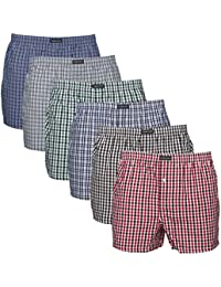Lower East Men's American Boxer Shorts, Pack of 6