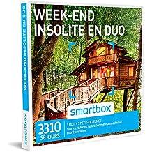 SMARTBOX - Week-end insolite en duo - Coffret cadeau couple - À choisir parmi 3310 séjours en yourte, roulotte, tipi, cabane et maison d'hôtes. Offrez une nuit avec petit-déjeuner pour 2 personnes