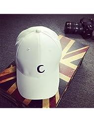 Sombrero,Xinantime Ajustable Adolescentes Gorras de Béisbol Sombreros Plano Hip Hop (Blanco)