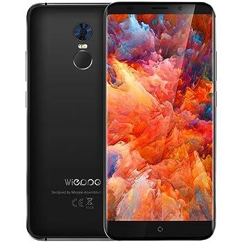 5.7 Inch Smartphone 4G,Smartphone Economici 18: 9,Sblocco Dual Sim,1440 * 720, 5MP + 13MP Camera,2GB RAM + 16GB ROM,3000mAh Battery (Wieppo S8, Nero)