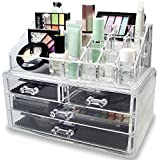 Inditradition Dressing Table Cosmetic Make Up & Jewelry Organizer Drawers | Acrylic, Unbreakable, Transparent | 24 x 14 x 19 CM