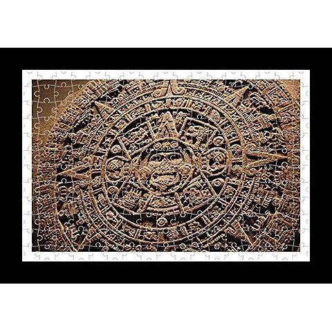 Stile Puzzle, Pre-assemblato, per stampa da parete, motivo: calendario di Maya Lisa Loft - Calendario Maya
