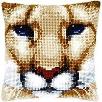 Vervaco PN-0149921 VER - Cuscino con kit per punto croce raffigurante un puma