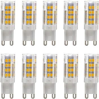 Bombillas LED G9 5W Equivalentes a Lámparas Halógenas de 35W Blanco cálido 3000k,AC220-