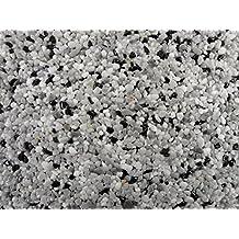 Natursteinteppich-Fliese Classic Line Business Grau - flexible Bodenfliese für Innen und Außen aus italienischem Marmorkies, Teppichfliese, Marmorteppich, Terassenboden, Poolumrandung - 1m² Paket (4 Stück 50x50 cm)