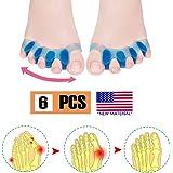 Corrector de juanetes, Separador de dedos, Protectores de alivio de dolor de juanetes, Enderezadora de dedos de gel y gel de