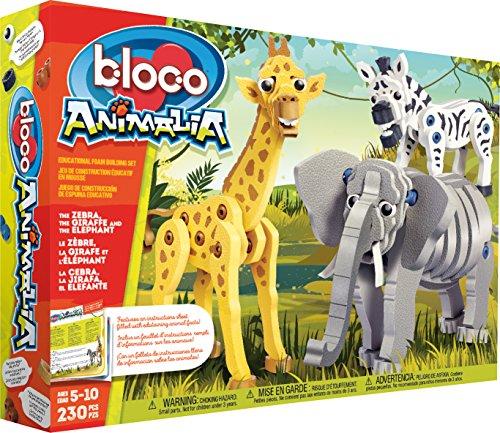 Kanaï Kids–kkbc24001–Bloco–Animali–Giraffa, Zebra e elefante (6G5)