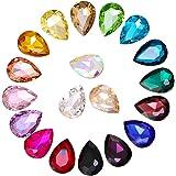 Gwolf Strass di cristallo, gemme di strass in vetro 200 pezzi, gemme di cristallo per artigianato, adesivo strass gioielli gi