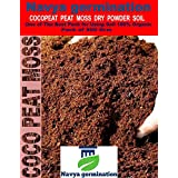 Navya germination Cocopeat Peat Moss Dry Powder 500grm One of The Best Pack for Home Plants and Gardening 100% Organic.