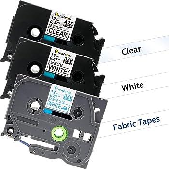 Streng 2 Stück Schriftbandkassette Brother 9mm Tze-221 Schwarz Auf Ws Tape Bürotechnik