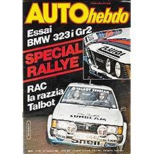 Auto Hebdo 243 . 27 novembre 1980 . Spécial Rallye .