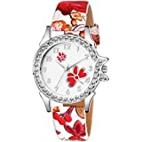 Praizy Times Floral Strap Analogue Multi Colour Strap Analog Dial Women Watch & Girl's Watch   Watch for girls new latest sty