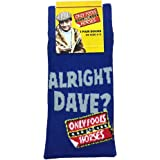Only Fools and Horses Official ALRIGHT DAVE SOCKS - in Trigger Blue