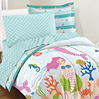 dream FACTORY Mermaid Dreams Comforter Set Full Light Blue