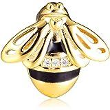 FunSHOPP 2019 Spring Reflexions Queen Bee Clip Shine Bead Bead in argento 925 fai da te adatto per braccialetti Pandora origi