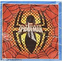 Procos 81526 - Tovaglioli Carta Ultimate Spider Man, 33 x 33 cm, 2 Veli, 20 Pezzi, Rosso/Blu - Spider Man Gift Set