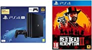 Sony PS4 Pro 1TB Console with one Additional Controller Pasted Outside Box & Red Dead Redemption - 2 (PS4)