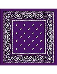 Deep Purple Bandana mit eckig Paisley Muster