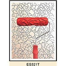 7pulgadas Rodillo de Pintura Tierra Seca en Relieve Con Mango Plástico Decoración Pared