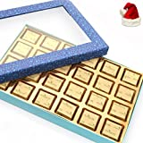 Ghasitaram Gifts Sweets - Blue Window 24 pcs Mewa Bites Box