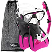 Phantom Aquatics Speed Sport Signature Mask Fin Snorkel Set, Adult (Sports & Outdoors)