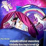 elebaby Deluxe Dream Bed Tent Unicorn Children Play Tent Folding Pop up Tent Indoor Princess Castle Playhouse Girls Birthday Gift