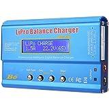 Ftvogue B6 80W Cargador de Equilibrio De Descarga de LCD Digital Tarjeta de Carga Paralela para BateríA Llipo Nimh RC(Without