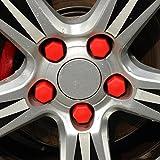 soxid (TM) Automotive silicona rueda tornillo tapa de protección para Mercedes-Benz A200A180A160B180B200A200A250Gla Cla AMG