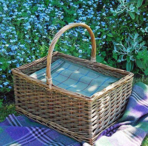 blubell Yard grande cestino cestino cestino da picnic in vimini Buckingham con termica tweed Check Liner   Miglior Prezzo    Ampie Varietà  dd2c4b