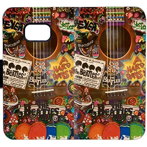 Funda Samsung GALAXY S7,Cubierta de lujo del caso del tirón de la carpeta del imán de la PU de la manera [Beatles] T2WSO