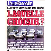 LAutomobile n° 398 - août 1979 - La Peugeot 505 face à ses