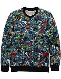 Demarkt Homme 3D Dessin Swag Sweat-Shirt avec 8 Modèle-3 Tailles Disponible