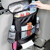 Organizer con Multi Tasche per sedile posteriore auto, supporto per bottiglie con mantenimento del calore (Rivestimento Di Raffreddamento Fan)